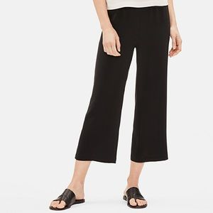 Eileen Fisher System Silk Crop Pant Petite Black